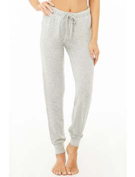 Knit Drawstring Pants by Forever 21