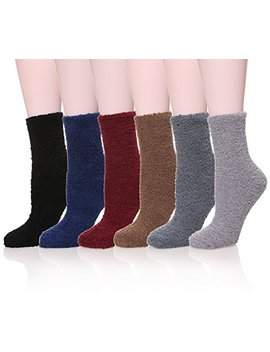 Womens Super Soft Fuzzy Cozy Home Sleeping Socks Microfiber Winter Warm Slipper Socks by Long Ge