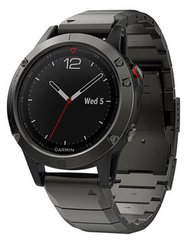 Men's Fenix® 5 Sapphire Black/Gray Convertible Strap Smart Watch 47mm by Garmin