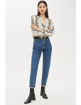 Rich Blue Mom Jeans by Topshop