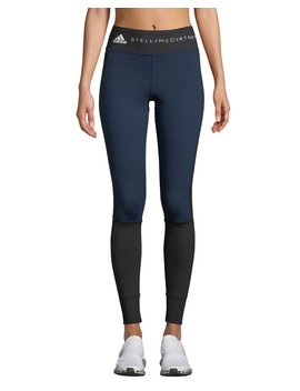 Yoga Comfort Colorblock Performance Tights by Adidas By Stella Mc Cartney