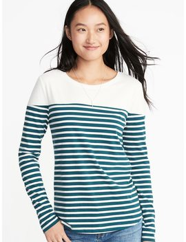 everywear-color-block-tee-for-women by old-navy