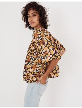 Whit® Mira Top In Elderberry Print by Madewell