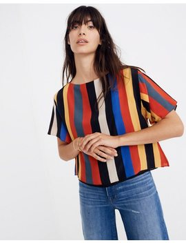 Whit® Silk Neil Tee In Camera Stripe by Madewell