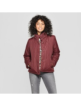 Women's Puffer Jacket   A New Day™ Burgundy by A New Day™