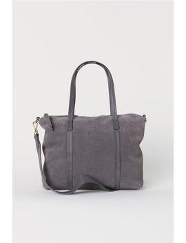 Suede Handbag by H&M