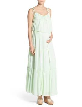 'songbird' Popover Maternity/Nursing Maxi Dress by Fillyboo