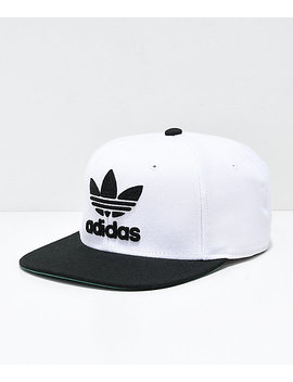 Adidas Originals White & Black Snapback Hat by Adidas
