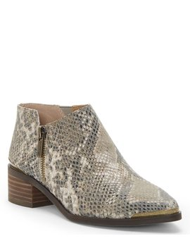 Koben Snake Print Block Heel Shooties by Lucky Brand