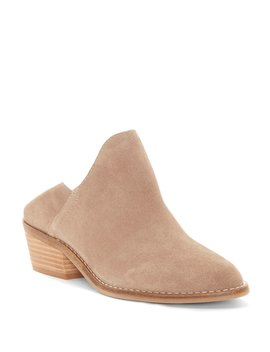 Fausst Suede Block Heel Shooties by Lucky Brand