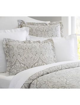 Mackenna Paisley Duvet Cover & Sham   Taupe by Pottery Barn
