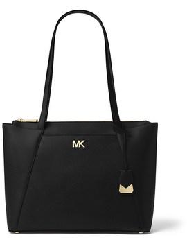 Maddie Medium Crossgrain Leather Tote by Michael Kors