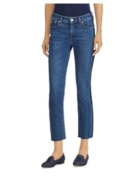Raw Hem Cropped Jeans In Indigo by Lauren Ralph Lauren