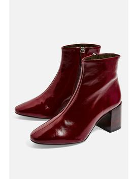 **Wide Fit Marlene Heeled Leather Boots by Topshop