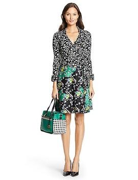 Green Combo Amelianna Wrap  Work/Office Dress by Diane Von Furstenberg