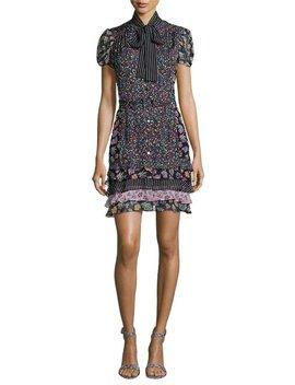 Gypsy Multipattern Silk Blend  Cocktail Dress by Diane Von Furstenberg