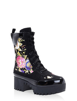 Platform Combat Boots by Rainbow