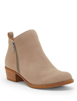 Basel Nubuck Leather Side Zip Booties by Lucky Brand