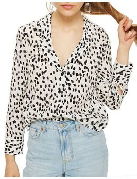 Petite Animal Print Blouse by Topshop