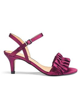 Ruffle Detail Kitten Heel Sandals by Simply Be