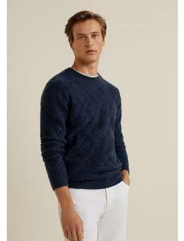 Rhombus Pattern Sweater by Mango