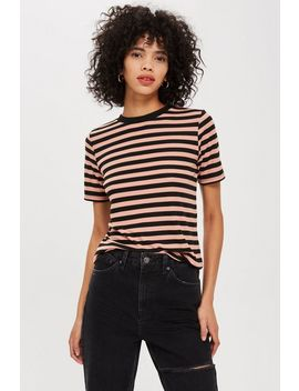 Stripe Premium Clean T Shirt by Topshop
