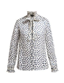Emilie Devoré Silk Blend Blouse by Saloni