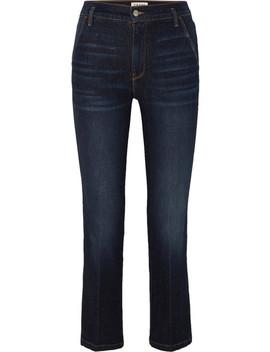 Le Slender 高腰直筒牛仔裤 by Frame