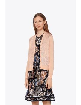 Floral CloquÉ Front Cardigan by Tory Burch
