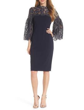lace-yoke-sheath-dress by eliza-j
