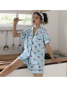 Dute   Pajama Set: Short Sleeve Top + Shorts + Headband by Dute
