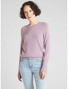 Crewneck Pullover Sweater In Cashmere by Gap