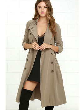 Jack By Bb Dakota Wellington Taupe Trench Coat by Bb Dakota