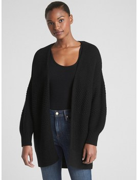 Mix Knit Cocoon Cardigan Sweater by Gap