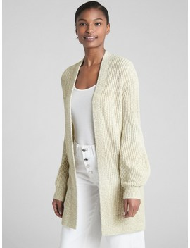 Textured Open Front Cardigan Sweater by Gap