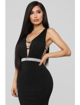 Give Me Diamonds Maxi Dress   Black by Fashion Nova