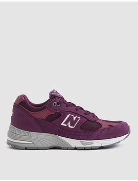 991 Sneaker In Boysenberry / Grey by New Balance