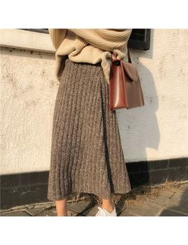 Ginger Girl   Knit Midi Skirt by Ginger Girl