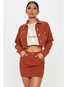 Rust A Line Denim Mini Skirt by Missguided
