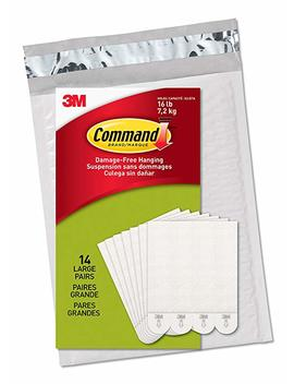 Command Ph206 14 Na Picture Hanging Strips, Large, White, 14 Pairs by Command