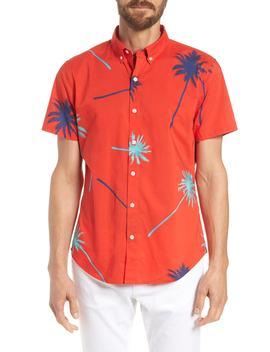 Riviera Slim Fit Palm Print Sport Shirt by Bonobos