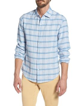 Slim Fit Plaid Linen & Cotton Sport Shirt by Bonobos