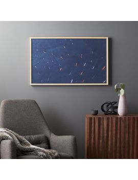 """Singapore Tankers With Light Wood Frame/No Mat 41.5""""X25.5"""" by Crate&Barrel"""