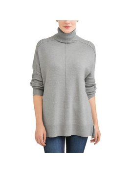 Women's Cowl Neck Tunic Sweater by Time And Tru
