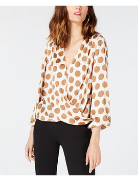 I.N.C. Blouson Polka Dot Top, Created For Macy's by Inc International Concepts