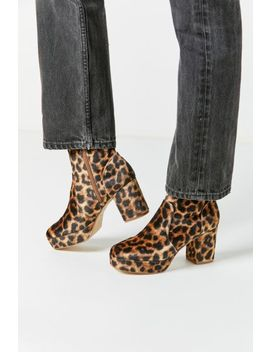 Uo Olivia Leopard Platform Boot by Urban Outfitters