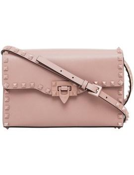 Rockstud Lacquer Stud Medium Shoulder Bag by Valentino