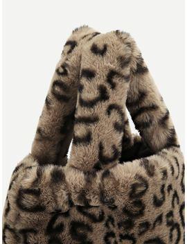 Leopard Pattern Tote Bag by Sheinside
