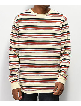 Empyre Recon Striped Tan Long Sleeve T Shirt by Empyre