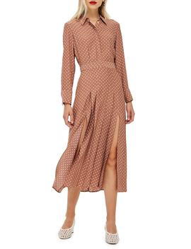 Spot Pleat Shirtdress by Topshop